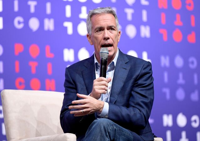 Joe Walsh speaks onstage during the 2019 Politicon at Music City Center in Nashville, Tennessee