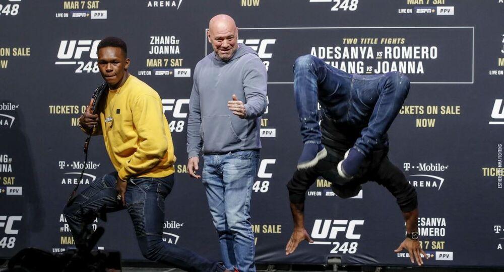MMA Fighter Israel Adesanya and Cuban Yoel Romero