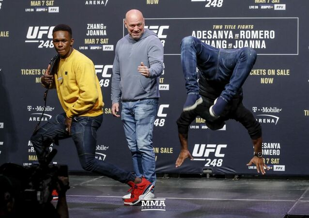 MMA Fighter Israel Adesanya and Cuban Yoel Romero