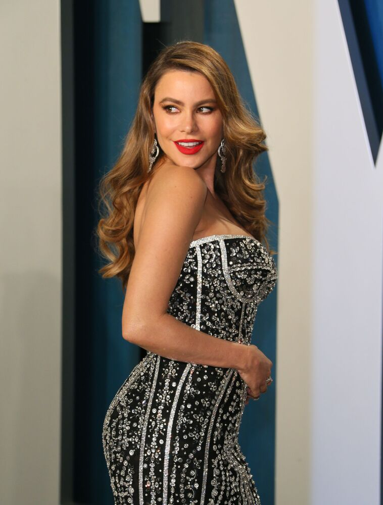 Sofia Vergara attends the 2020 Vanity Fair Oscar Party at the Wallis Annenberg Center for the Performing Arts in Beverly Hills, California on 9 February 2020.