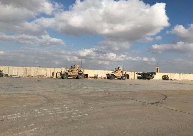 Military vehicles of U.S. soldiers are seen at Ain al-Asad air base in Anbar province, Iraq January 13, 2020.