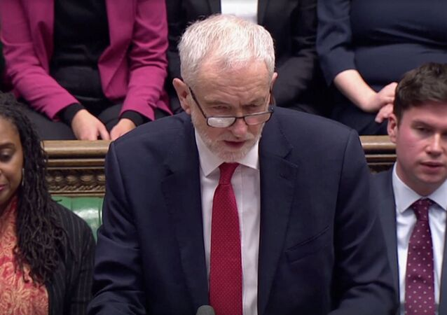 Britain's Labour Party leader Jeremy Corbyn speaks during the weekly question time debate at the Parliament in London, Britain, January 29, 2020