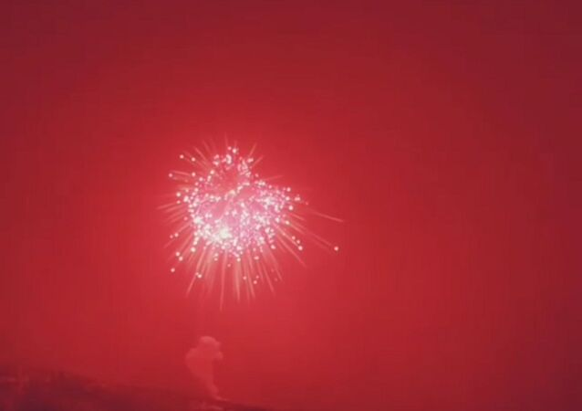 World's Largest firework launched in Steamboat Springs in the US state of Coloardo
