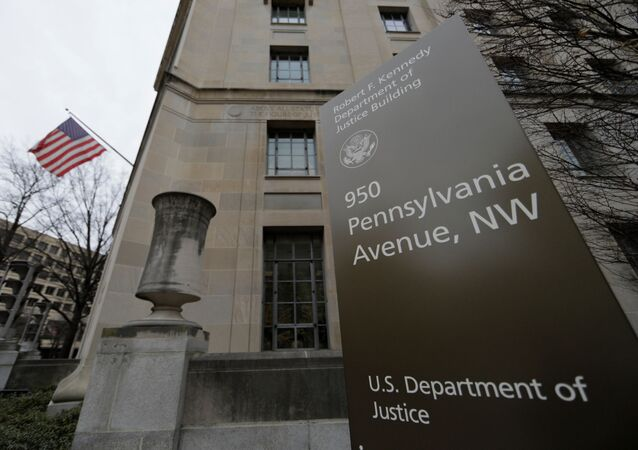 The U.S. Department of Justice building is seen in Washington, U.S., February 1, 2018.