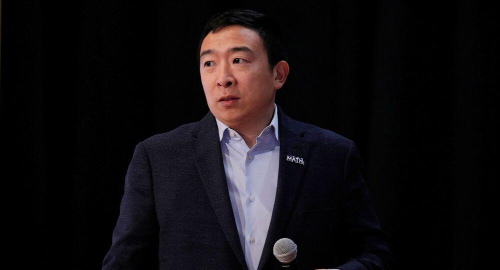 Democratic 2020 U.S. presidential candidate and entrepreneur Andrew Yang