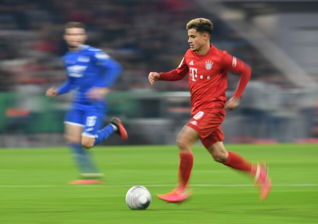 Soccer Football - DFB Cup - Third Round - Bayern Munich v TSG 1899 Hoffenheim - Allianz Arena, Munich, Germany - 5 February 2020, Bayern Munich's Philippe Coutinho in action.