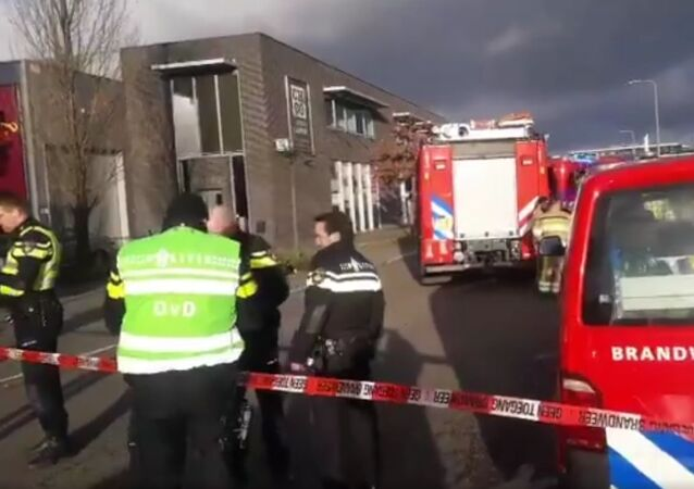 Police  and the fire brigade are investigating after explosion letter package in post sorting center  Kerkrade