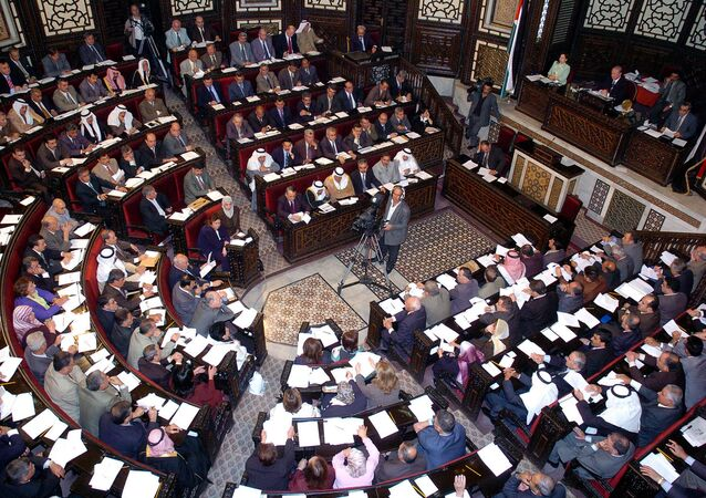 The Syrian People's Assembly (Parliament) (File)