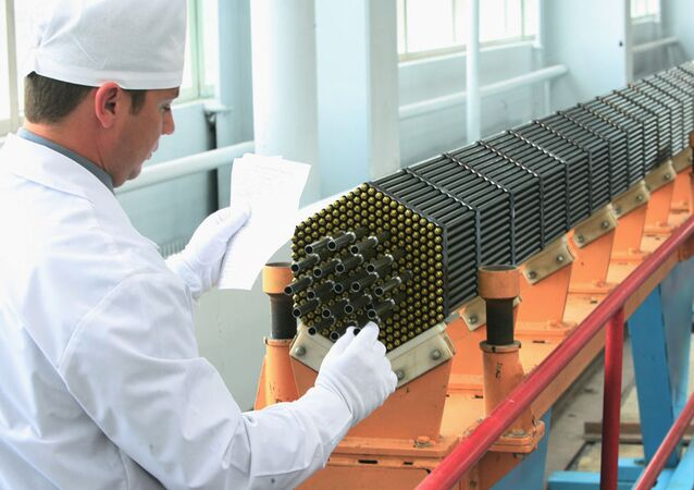 Work on a fuel cassette of the nuclear power reactor at the Novosibirsk Chemical Concentrates Plant, a TVEL subsidiary