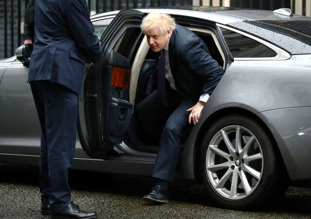 Britain's Prime Minister Boris Johnson arrives at Downing Street in London, Britain February 13, 2020.