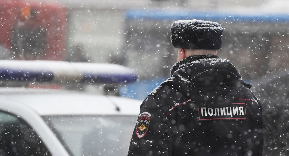 Police officer in Moscow, Russia