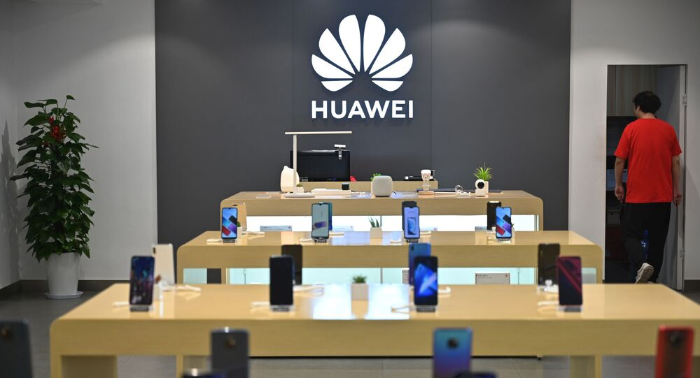 Huawei smartphones are seen in a Huawei store in Shanghai on May 26, 2019