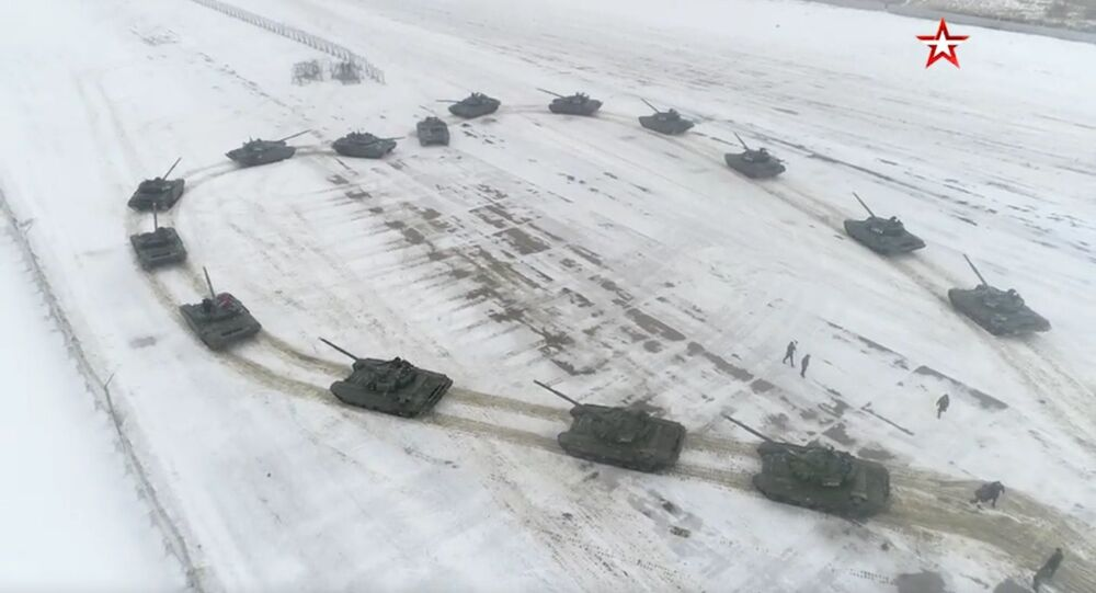 Russian military made an offer to the girl with the help of tanks