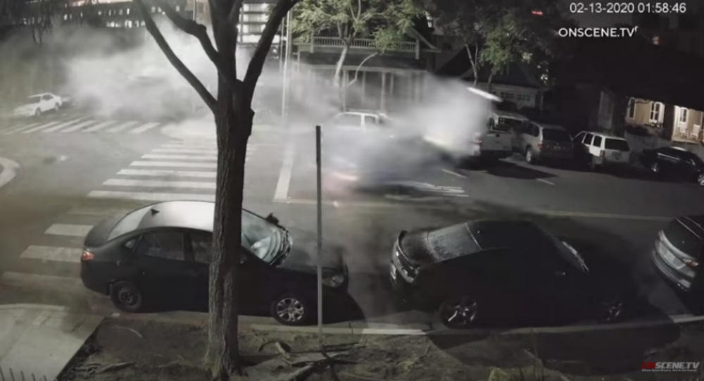 Video: Suspected Drunk Driver Launches Car Skyward After Hitting Boulder