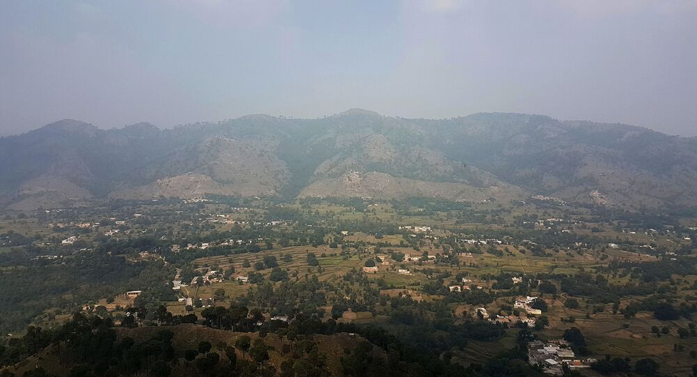 This photograph taken from a Pakistani army post shows a general view of Bandla Valley in district Bhimber near the Line of Control (LoC) in Pakistan-administered Kashmir during a media trip organised by the Pakistani army on October 1, 2016.