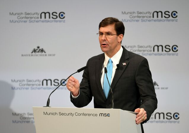 U.S. Defence Secretary Mark Esper speaks at the annual Munich Security Conference in Germany February 15, 2020.