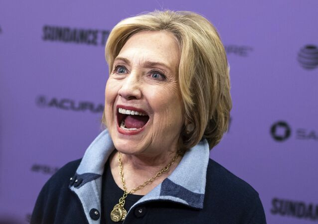 Hillary Clinton attends the premiere of Hillary at The Ray Theater during the 2020 Sundance Film Festival on Saturday, Jan. 25, 2020, in Park City, Utah.