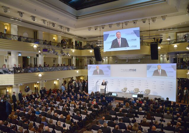 Mike Pompeo addresses 2020 Munich Security Conference