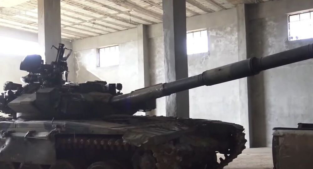 Turkish-backed militants used a captured Syrian T-90 against its previous owners in a recent battle in the nation's province of Aleppo.