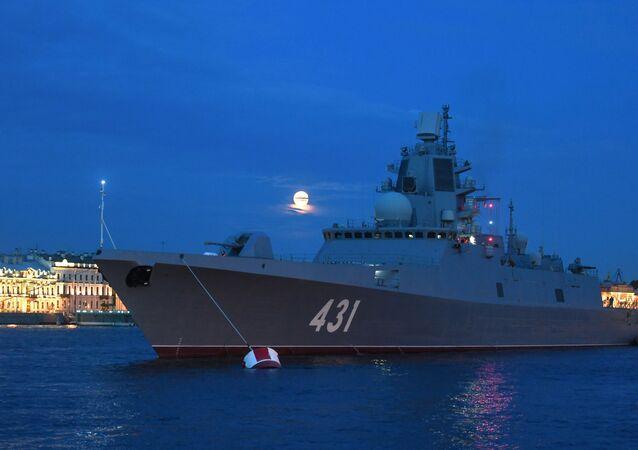 Russia's first Project 22350 frigate Admiral Flota Kasatonov