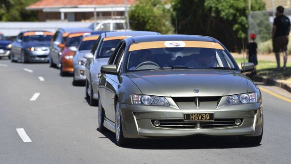 Holden cars parade through the streets of Adelaide, Australia - Sputnik International