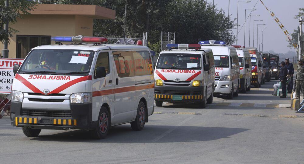 A convey of ambulances , Pakistan (File)