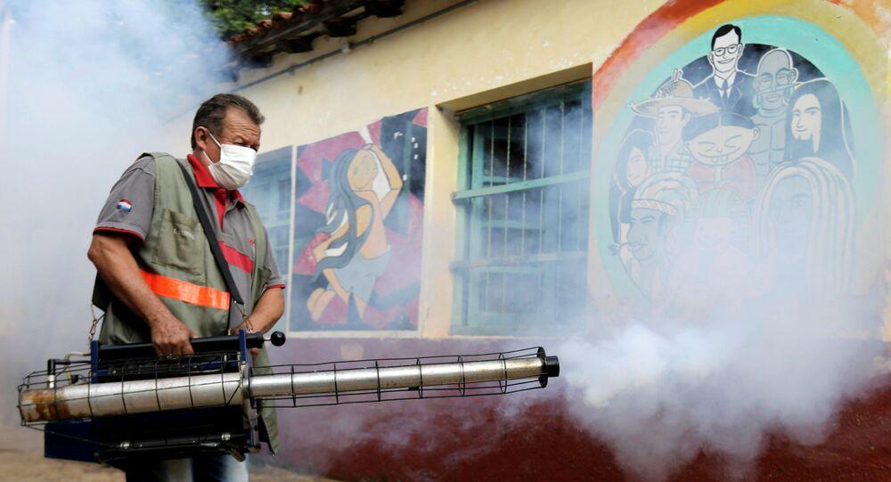 Fumogation at the San Lorenzo National School of San Lorenzo, Paraguay