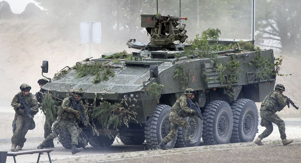 NATO soldiers of Croatia at the Training Range in Pabrade, Lithuania