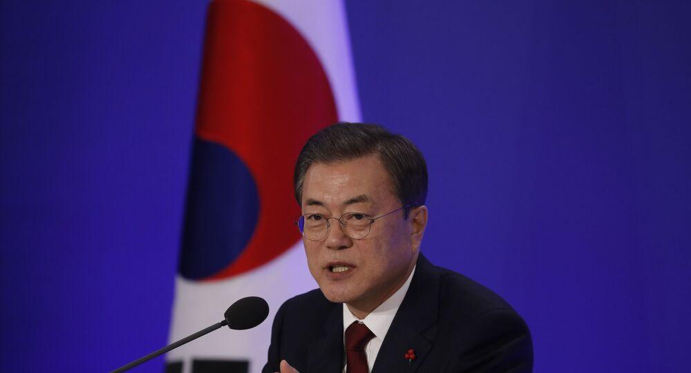 South Korean President Moon Jae-in on January 14, 2020