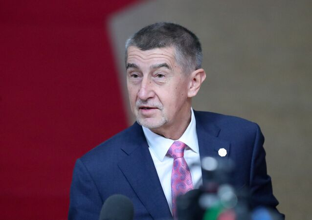 Czech Republic's Prime Minister Andrej Babiš at the Europa building in Brussels