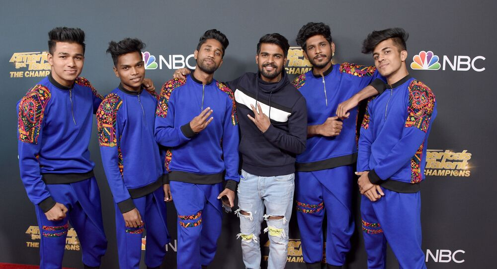 PASADENA, CALIFORNIA - OCTOBER 21: V. Unbeatable dance crew attend the Premiere Of NBC's America's Got Talent: The Champions Season 2 Finale at Sheraton Pasadena Hotel on October 21, 2019 in Pasadena, California