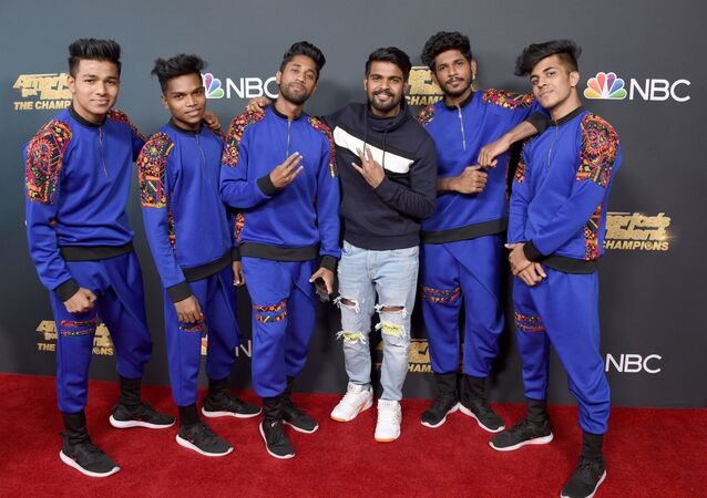 PASADENA, CALIFORNIA - OCTOBER 21: V. Unbeatable dance crew attend the Premiere Of NBC's America's Got Talent: The Champions Season 2 Finale at Sheraton Pasadena Hotel on October 21, 2019 in Pasadena, California