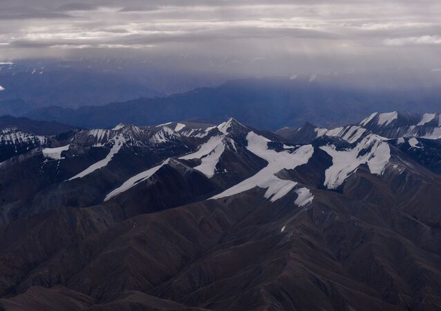 This photograph taken on August 22, 2016, shows a general view of the Himalayan Mountain Range in Ladakh in the northern state of Jammu and Kashmir.
