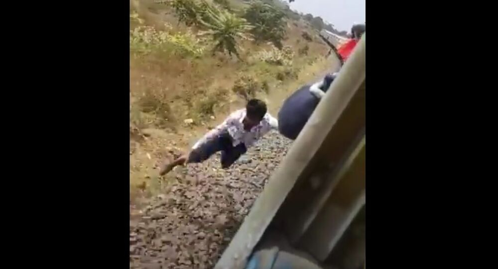 Showing stunts in a moving train is a sign of bravery, not bravery. Your life is priceless, do not put it in danger