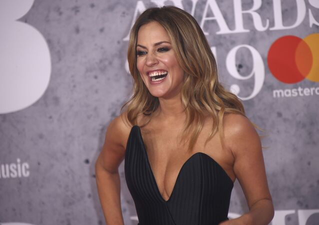 Television presenter Caroline Flack at the Brit Awards in 2019. She committed suicide on 15 February 2020.