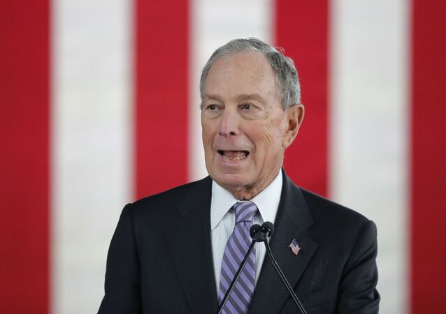 Democratic presidential candidate and former New York City Mayor Mike Bloomberg speaks at a campaign event in Raleigh