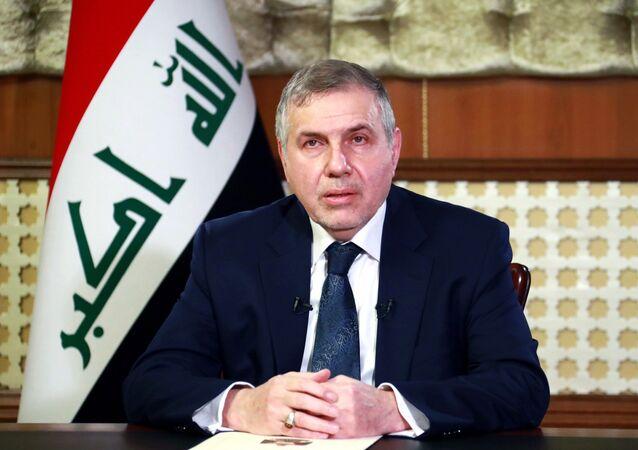 Iraqi prime minister-designate Mohammed Tawfiq Allawi in Baghdad
