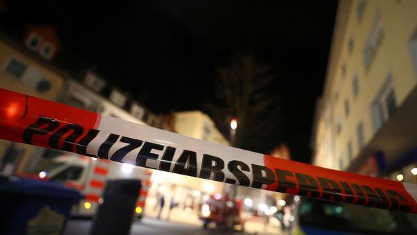 Police tape is seen in the area after a shooting in Hanau near Frankfurt, Germany, February 20, 2020. - Sputnik International