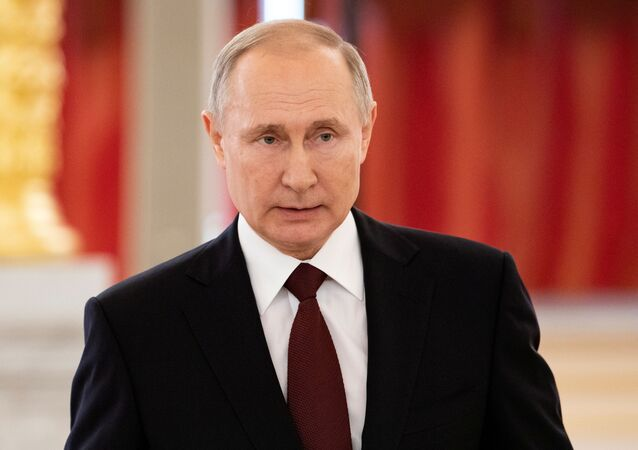 Russian President Vladimir Putin attends a ceremony for newly appointed foreign ambassadors to Russia, at the Kremlin in Moscow, Russia, February 5, 2020