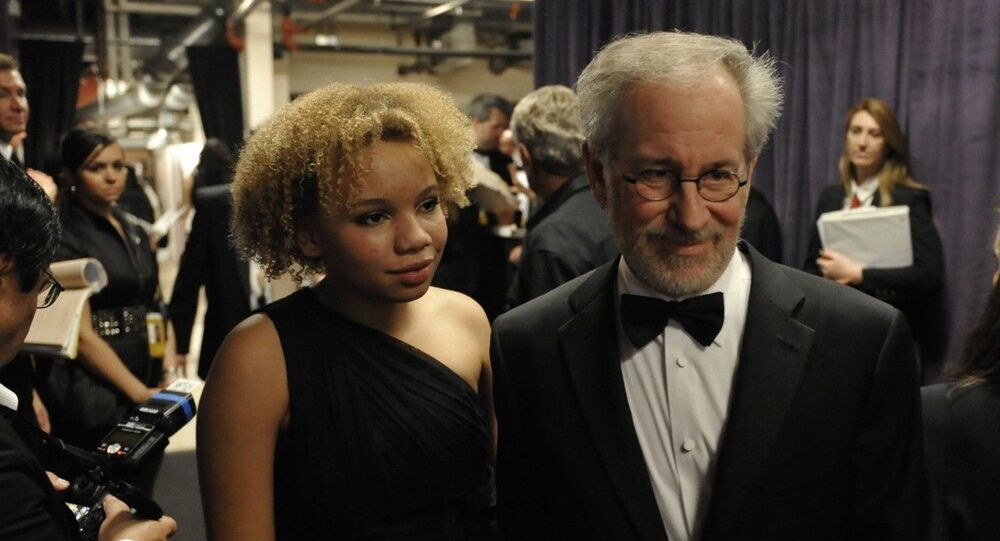 Steven Spielberg and daughter Mikaela George Spielberg are seen backstage at the 81st Academy Awards, 22 February 2009, in Hollywood, California