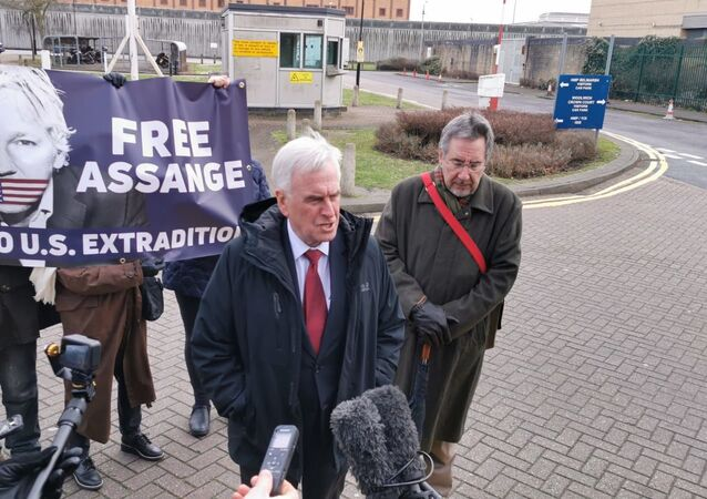 John McDonnell and John Rees press conference HM Belmarsh