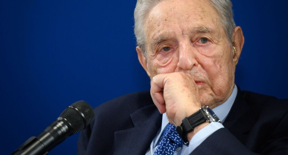 Hungarian-born US investor and philanthropist George Soros looks on during a speech on the sidelines of the World Economic Forum (WEF) annual meeting, on 23 January 2020 in Davos, Switzerland