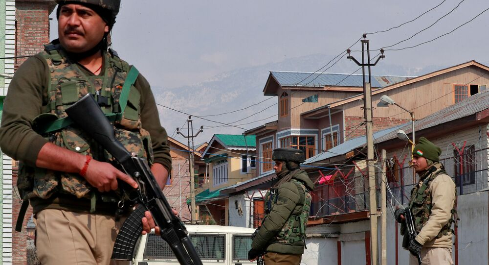 Indian security forces in Srinagar