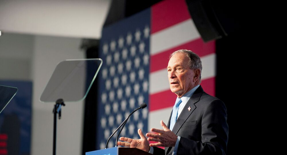 Democratic presidential candidate Mike Bloomberg holds a campaign rally in Salt Lake City, Utah, U.S., 20 February 2020.