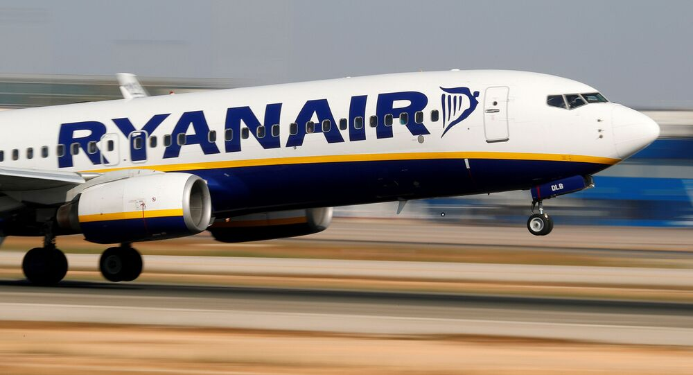 A Ryanair Boeing 737-800 plane takes off from the airport in Palma de Mallorca, Spain, 29 July 2018.