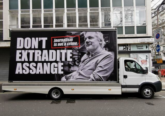 Protesters gather outside Australia House in London on Saturday for rally in support of WikiLeaks founder Julian Assange ahead of extradition hearings.