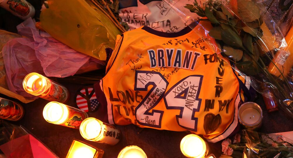 Floral and gift tributes lie outside Staples Center before a Los Angeles Lakers home game as mourners paid respects to Kobe Bryant after a helicopter crash killed the retired basketball star and his daughter Gianna, in Los Angeles, California, U.S., January 31, 2020.