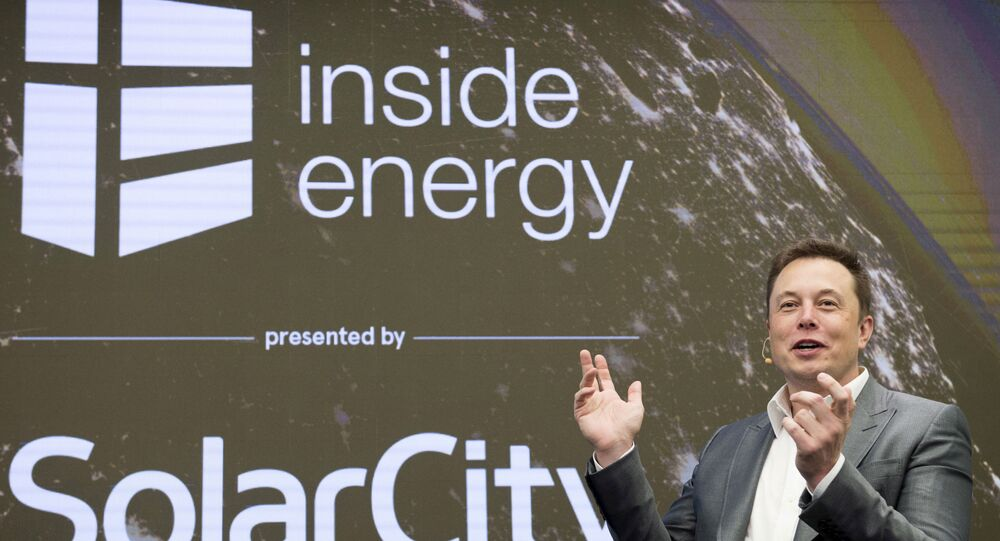 Elon Musk, Chairman of SolarCity and CEO of Tesla Motors, speaks at SolarCity's Inside Energy Summit in Manhattan, New York October 2, 2015
