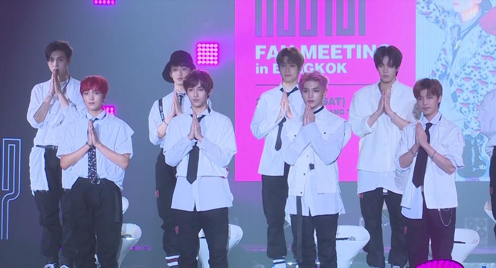 NCT 127 attending a fan meeting in Bangkok in September 2017