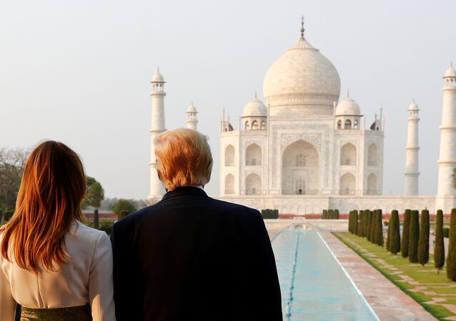 U.S. President Donald Trump and first lady Melania Trump tour the historic Taj Mahal